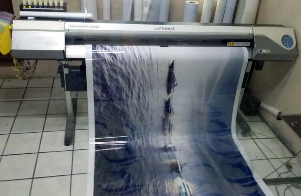 High resolution wide format printing